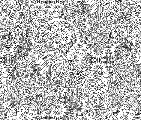 Head Trip Coloring fabric by elramsay on Spoonflower - custom fabric