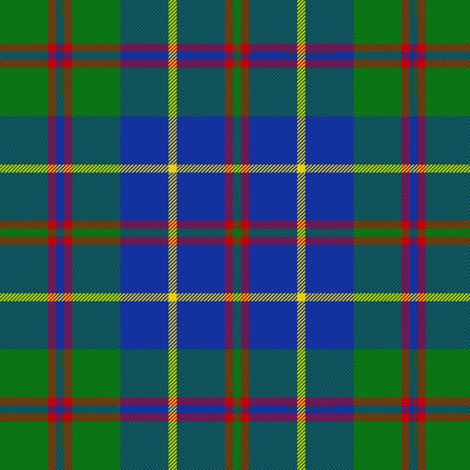 "MacHardy tartan, 6"" blue, yellow stripe fabric by weavingmajor on Spoonflower - custom fabric"
