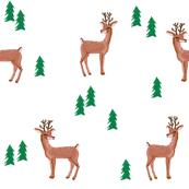rudolph reindeer christmas deer santa's sleigh fabric for winter decor white green - smaller