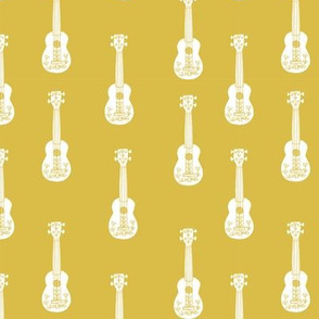 ukulele // musical instrument kids guitar fabric instruments music pattern mustard