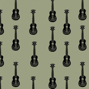 ukulele // musical instrument kids guitar fabric instruments music pattern army