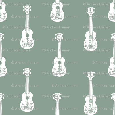 ukulele // musical instrument kids guitar fabric instruments music pattern pale green
