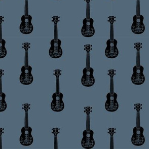 ukulele // musical instrument kids guitar fabric instruments music pattern payne's grey