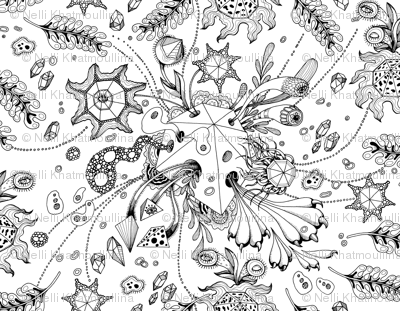 Lake Coloring Page Abstract Surrealism  Pattern