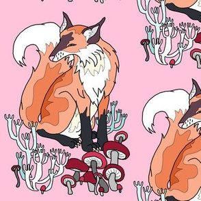 Fox and Mushroom Color