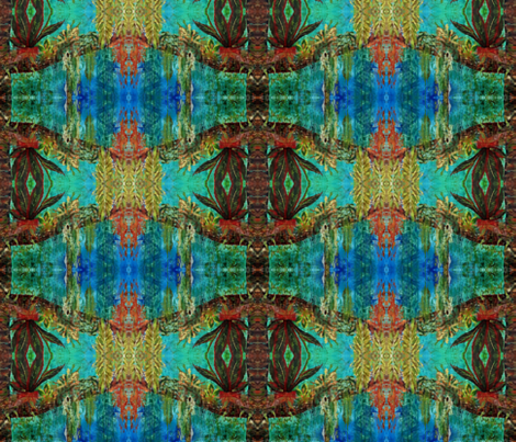 jungle_painting fabric by texton on Spoonflower - custom fabric