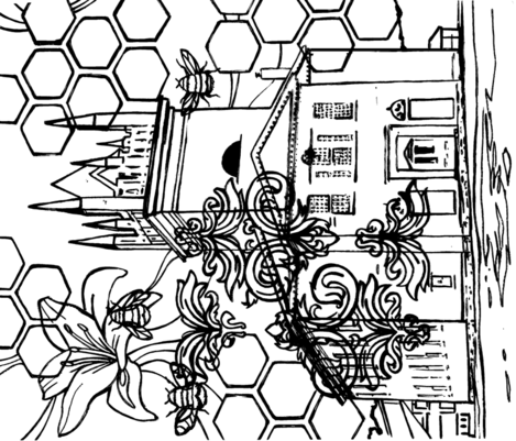 coloringpage fabric by staceysherman on Spoonflower - custom fabric