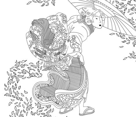 Autumn leaves in Japan fabric by joeywray on Spoonflower - custom fabric