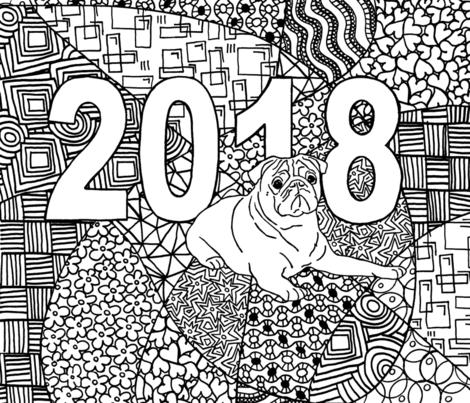 Pugnacious 2018 fabric by engravogirl on Spoonflower - custom fabric