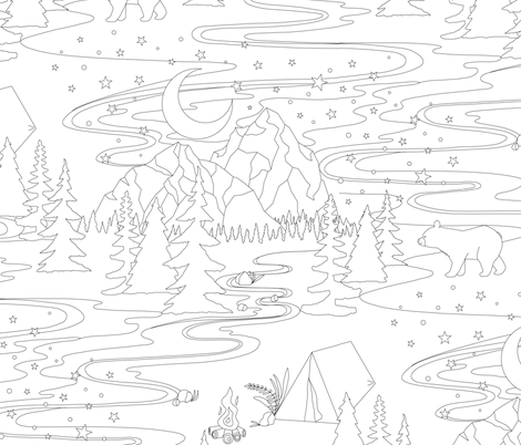 Choose Mountains fabric by byre_wilde on Spoonflower - custom fabric