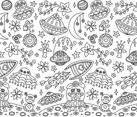 Unidentified Floral Objects fabric by moonpuff on Spoonflower - custom fabric