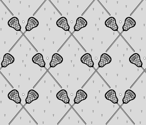 Lacrosse Gray fabric by mrshervi on Spoonflower - custom fabric