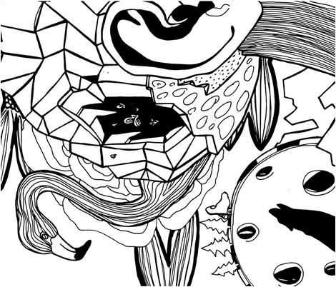 In your head fabric by artishark on Spoonflower - custom fabric