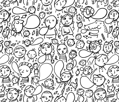 Bubble Blowing Contest fabric by anda on Spoonflower - custom fabric