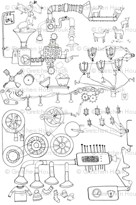 yarn machine coloring book