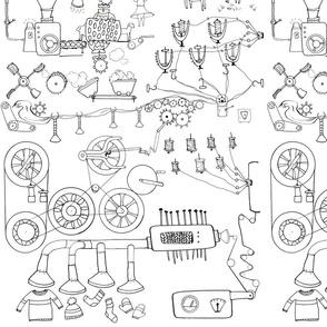 yarn machine coloring book
