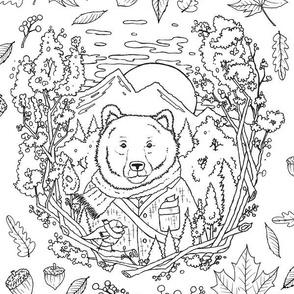 Mountain Bear Portrait