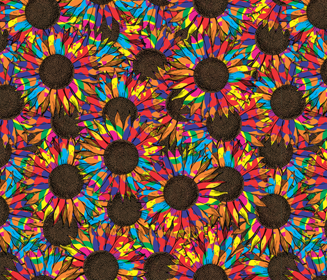 splattered sunflowers fabric by b0rwear on Spoonflower - custom fabric
