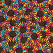 splattered sunflowers
