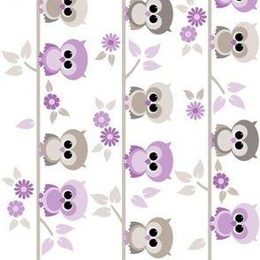 Baby owls in purple - railroaded
