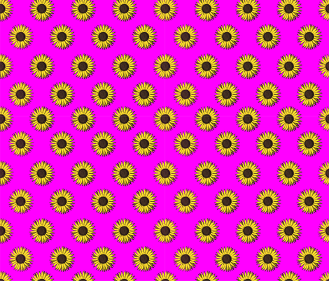 sunflower pattern pink  fabric by b0rwear on Spoonflower - custom fabric
