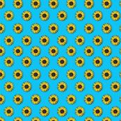 sunflower pattern blue
