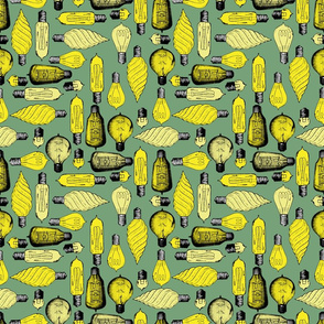 light bulb pattern green