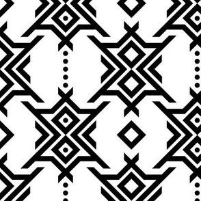 Geometric Charms - Black & White