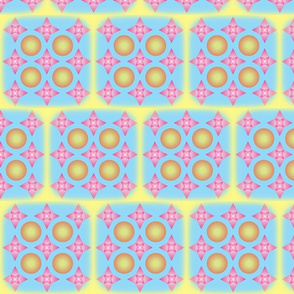 Star Orb Feathered Tiles