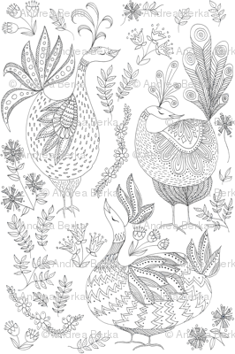 Preening Partridges