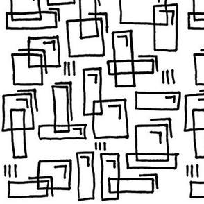 Pugnacious Gelatin Squares - B&W