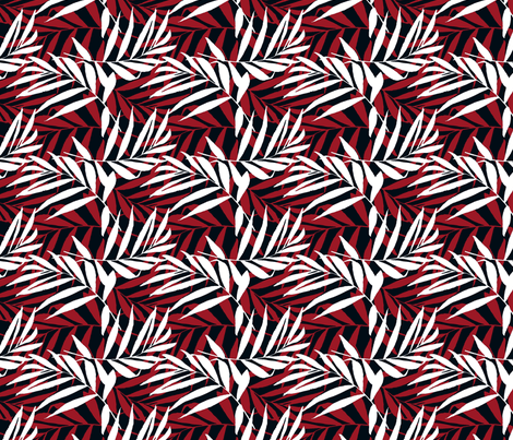 Red palms fabric by mesh_and_cloth on Spoonflower - custom fabric