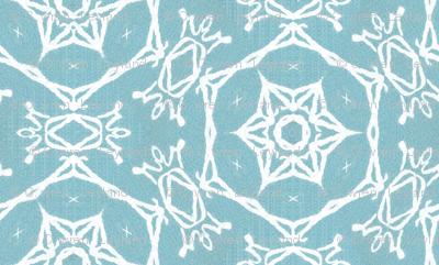 winter snowflake cyan blue