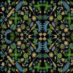 black blue green mirror mosaic