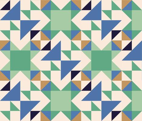 Green Crosses fabric by janetdrummond on Spoonflower - custom fabric