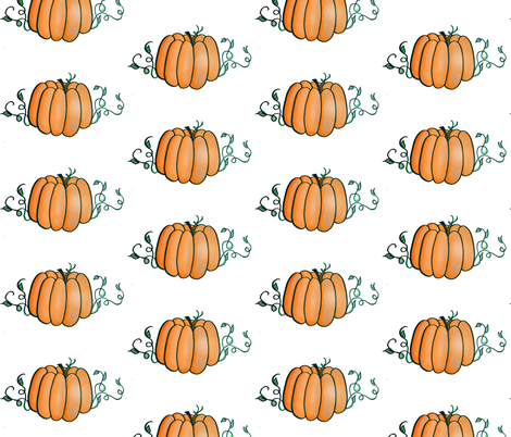 Simple Pumpkin fabric by theespottedowl on Spoonflower - custom fabric
