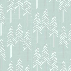 Forest - Pine Trees Mint White