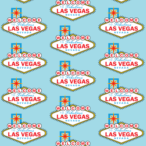 las-vegas sign-in-color fabric by lilcubby on Spoonflower - custom fabric