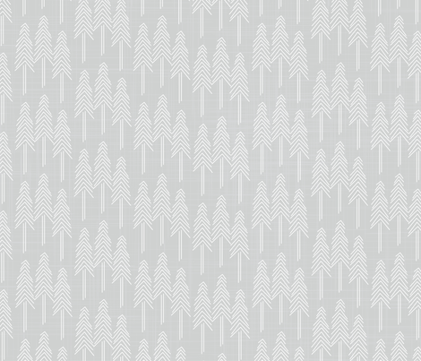 Forest - Pine Trees Stone White fabric by docious_designs_by_patricia_braune on Spoonflower - custom fabric