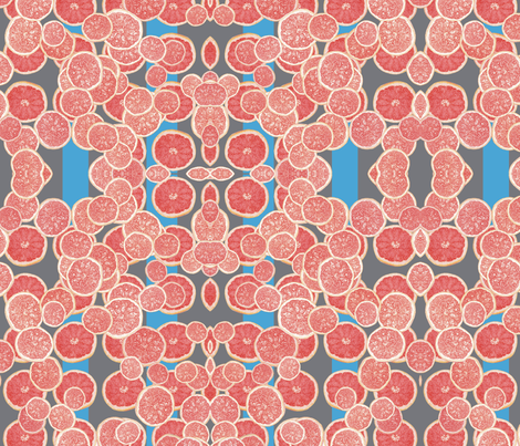 Grapefruit_blues-ch fabric by erica_lindberg_designs on Spoonflower - custom fabric