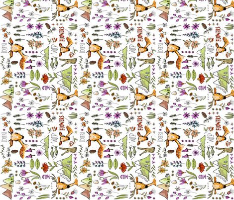 WildandDeer_anywhere_sideways fabric by mulberry_tree on Spoonflower - custom fabric