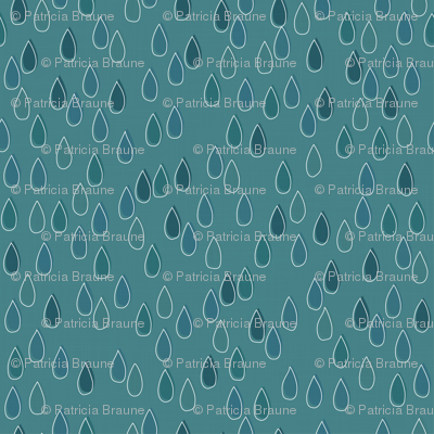Forest - Drops Teal White