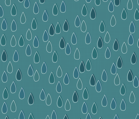Forest - Drops Teal White fabric by docious_designs_by_patricia_braune on Spoonflower - custom fabric