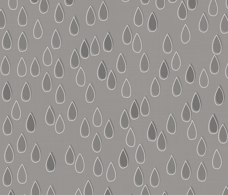 Forest - Drops Grey White fabric by docious_designs_by_patricia_braune on Spoonflower - custom fabric