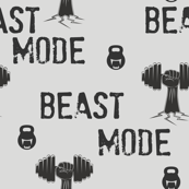 Beast mode, gym and fitness