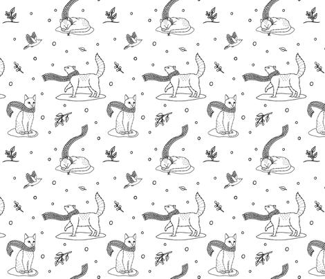 wintercats fabric by farnsy on Spoonflower - custom fabric