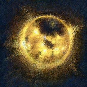 sunspots--sun painting