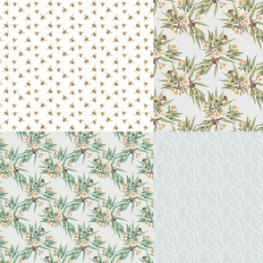 FatQuarters, Desert Ochre Part 2 // Australian botanicals and bees in natural colours