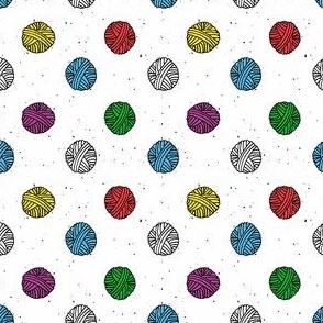 Bubblegum Rainbow Yarn Polka