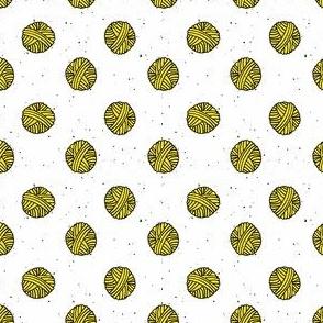 Bubblegum Yellow Yarn Polka Dot